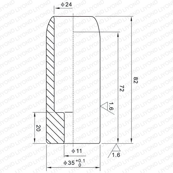630A мужской контакт для вакуумного выключателя LYB113