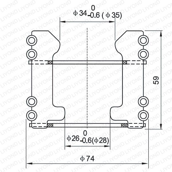 LYA103 GC5-630/1000A тюльпан изолирующий контакт