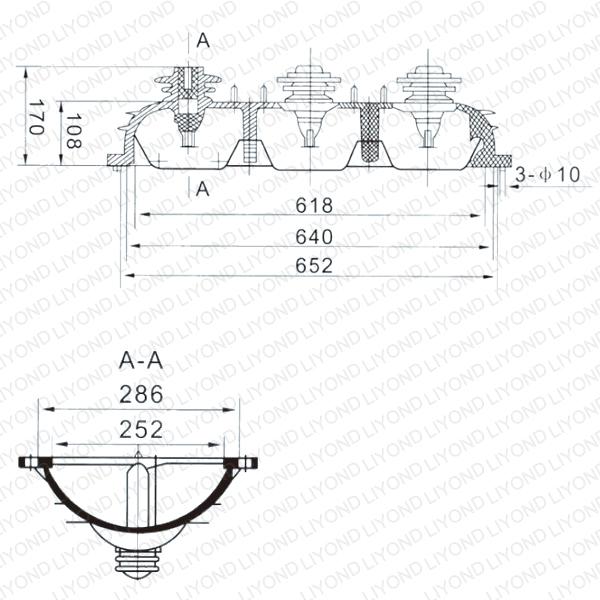 Выключатель нагрузки SF6-11 переключения верхний корпус