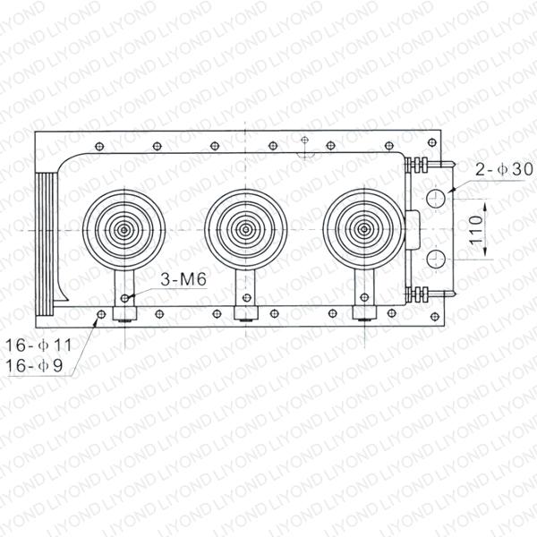 SF6-12 load break switch lower housing