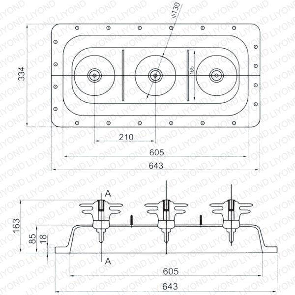 Выключатель нагрузки SF6-21 переключения верхний корпус