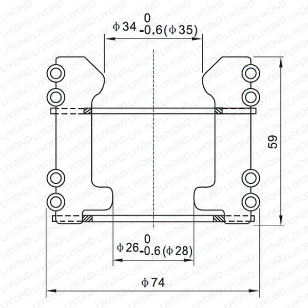 LYA106 GC5-630/1250A Тюльпан