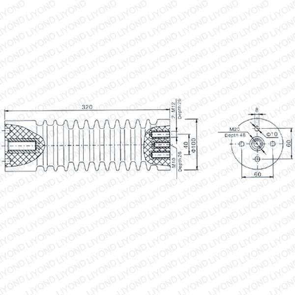 LYC138 40.5kV эпоксидные изоляторы
