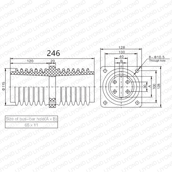 LYC143 втулка эпоксидной смолы TG3-12/100*100*260