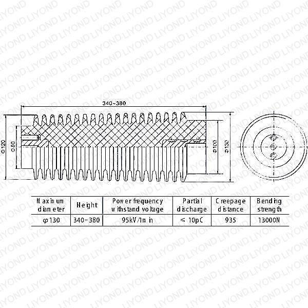 опорный изолятор с эпоксидной смолой для высокого напряжения LYC135 40.5kV