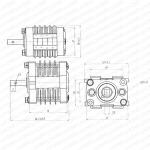 Электрический Сигнальный выключатель для VCB F10-8