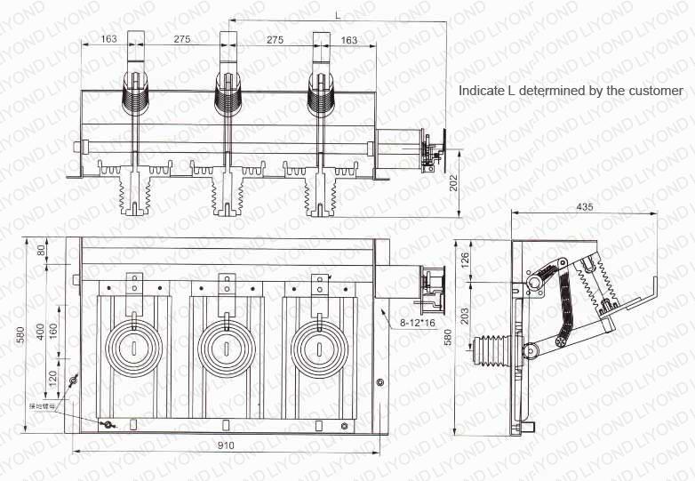GN38-24D Series Indoor High Voltage disconnector switch(1)