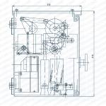 Структура и установка габаритный чертеж -1