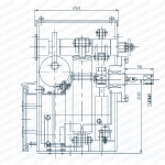 Структура и установка габаритный чертеж -2