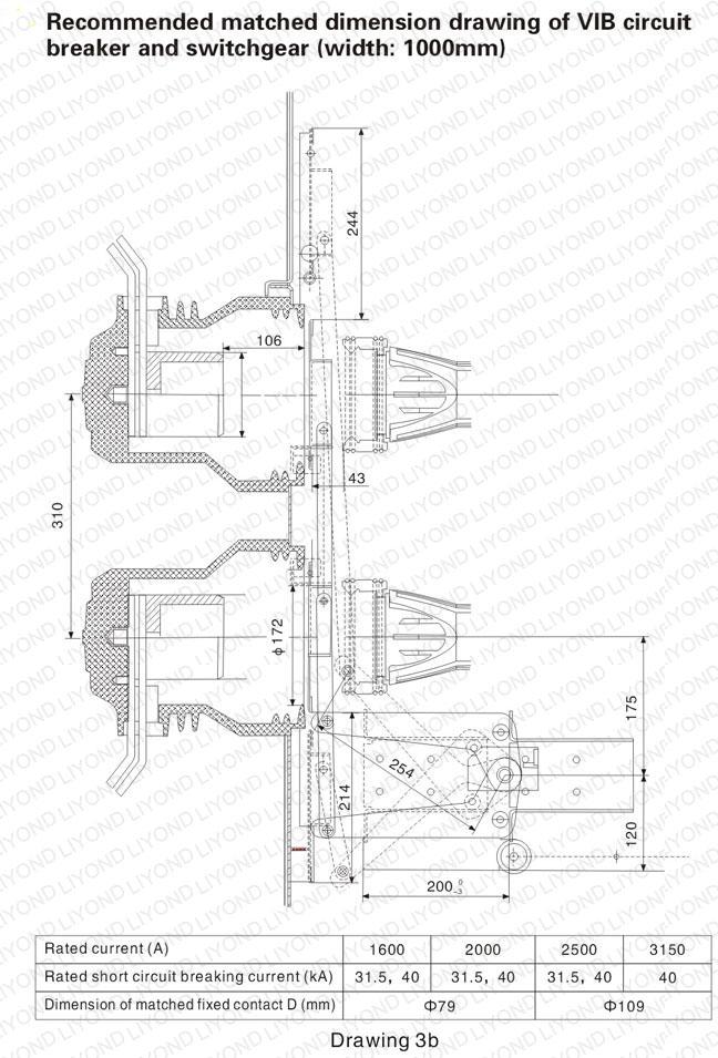 EP-12 indoor HV vacuum circuit breaker for 12kV switchgear