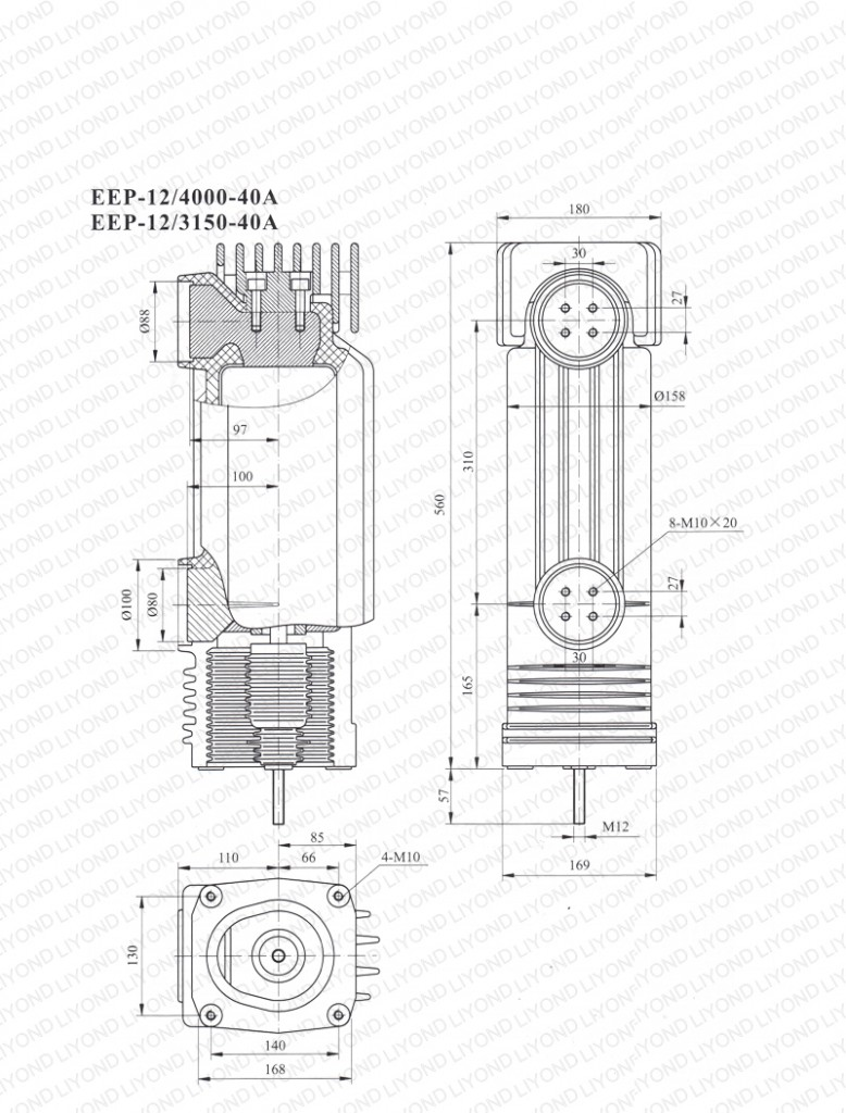 Drawing-12kV-EEP-12-4000-3150-40A-embedded-cylinder-for-vacuum-circuit-breaker