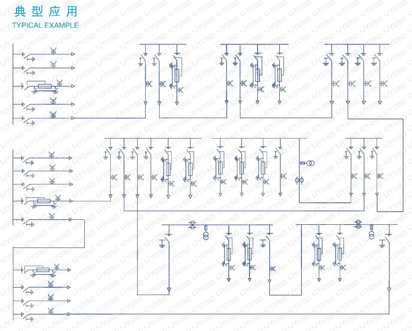 circuit-diagram-LKC2K-common-gas-tank-switchgear-SF6-for-insulating-and-sealing-RMU-series-ormazabal-series-6