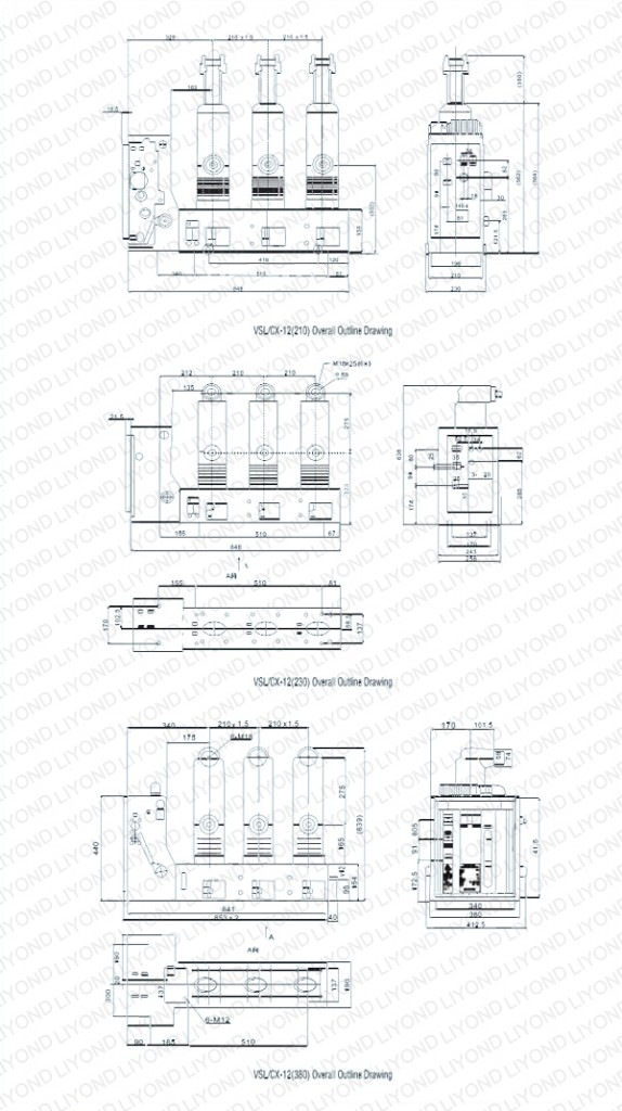 VS1C一12-Series-Indoor-High-Voltage-Vacuum-Circuit-Breaker-With-Lateral-Operating-Mechanism-2