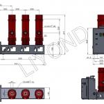 VSG-24 внутренный высоковольтный вакуумный выключатель типа боковой установки