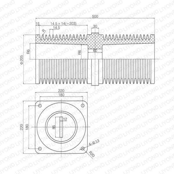 40.5KV-LYC218-epoxy-resin-electrical-wall-bushing-1