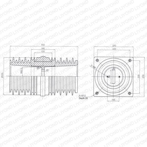 Double-shielded-bushing-LYC225-HV-circuit-breaker-1