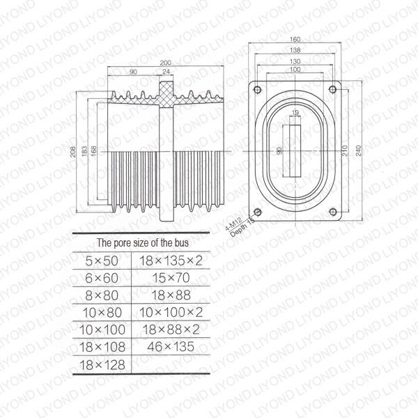 Electric-sleeve-insulator-LYC188-HV-switchgear-1
