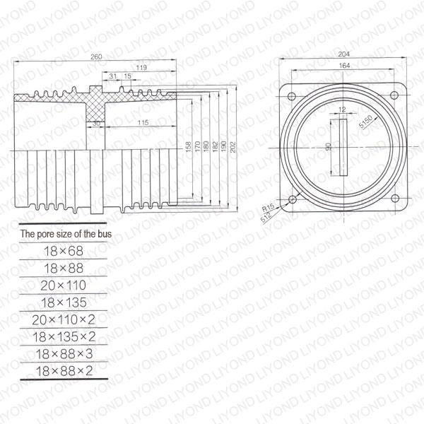 Female-bushing-LYC201-switchboard-insulation-1