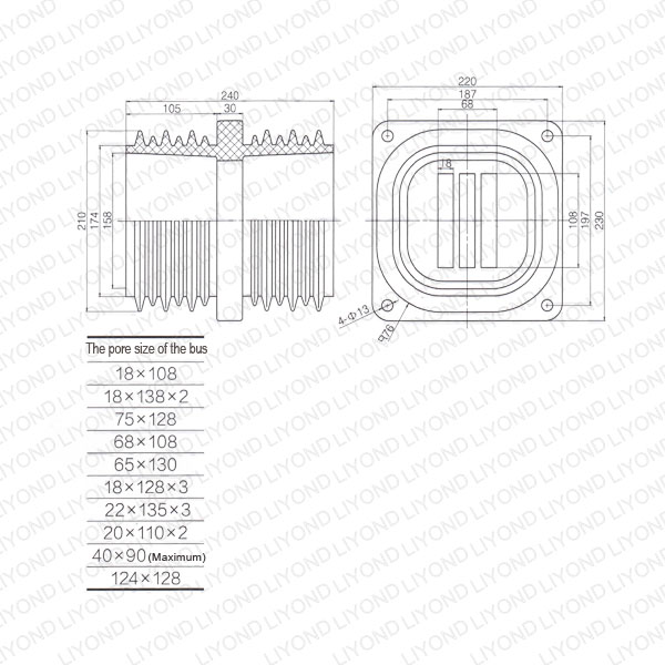 High-wall-bushing-LYC186-insulator-ABB-switchgear-1