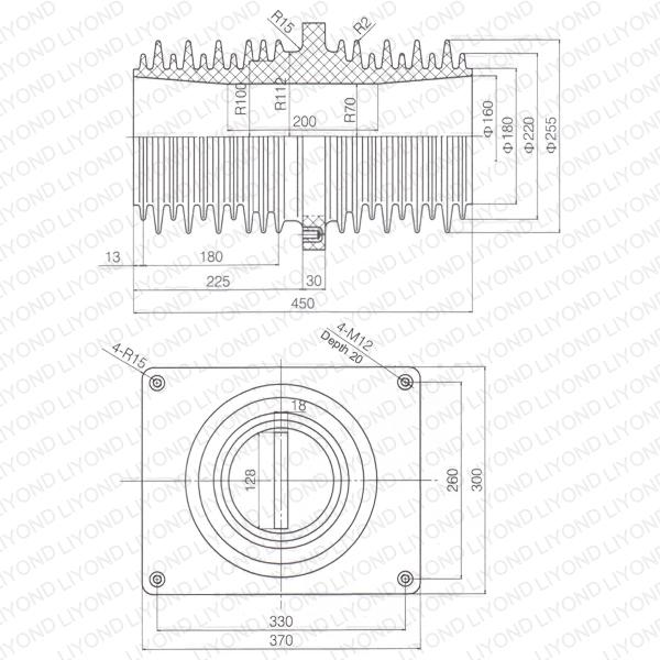 Pipe-fitting-bushing-LYC215-HV-circuit-breaker-1