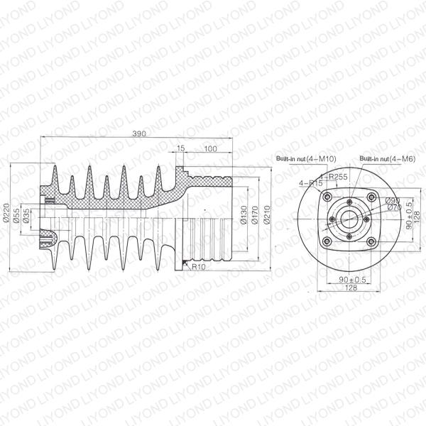 Railway-electrical-use-LYC227-white-wall-bushing-1
