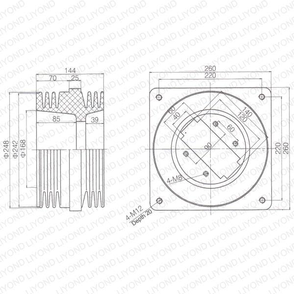 Short-bushing-LYC192-switchboard-insulation-1