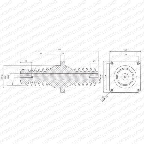 Switchgear-bush-LYC196-electric-high-voltage-casing-1