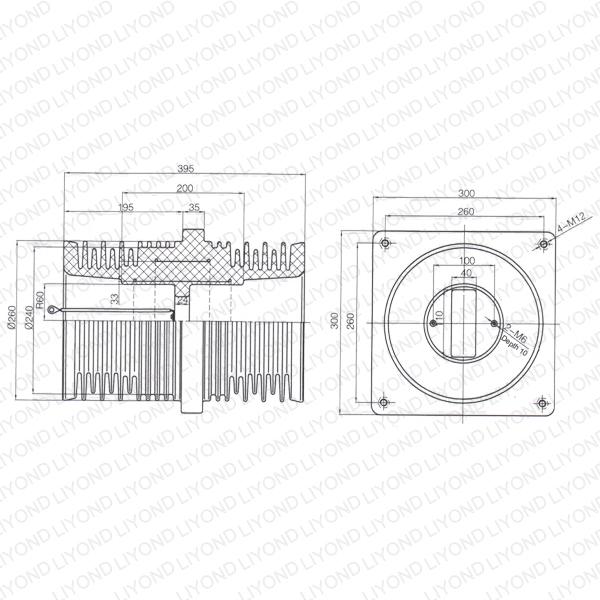 VCB-bushing-LYC226-HV-double-shielded-pipe-fitting-1
